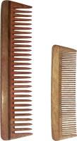 Ginni Marketing Combo of 2 Neem Wood Combs (detangler:regular size-7.5