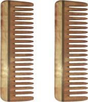 Ginni Marketing Combo of 2 Neem Wood Combs (Medium detangler-6) - Price 269 77 % Off
