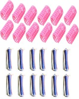 Out Of Box Plastic Perming Rollers 24 Pieces Hair Curler(Blue, Pink)