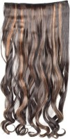 Luv-Li Professional Straight Curl Black With Golden Highlight 5 Clip Hair Extension - Price 425 78 % Off