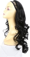 Wig-O-Mania Christina 3/4 Stylish in High Heat Japanese Fibre Black Hair Extension
