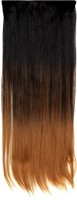 Luv-Li GLAMOROUS LOOKS STRAIGHT HALF BLACK HALF GOLDEN Hair Extension - Price 499 77 % Off