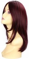 Wig-O-Mania Helene High Heat Mono at Parting Wig Warm Brown Burgandy Hair Extension