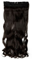 Kabello Synthetic Single Curly Wavy Dark Brown Hair Extension