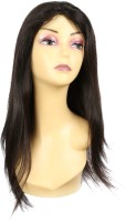 Wig-O-Mania Sandy Human  Straight Lace Front Col Black Hair Extension