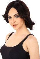 Out Of Box Full Head WIG Double Tone Black With Burgundy Helighted Synthetic Hair Extension