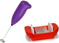 #° DEGREES # Purple Coffee/Milk/Egg Beater Mixer Shaker with Salad Maker 3 W Hand Blender(Purple)