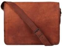 View CRAFAT 15 inch Laptop Messenger Bag(Brown) Laptop Accessories Price Online(CRAFAT)