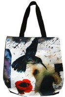 Indian Colours Girls White Tote