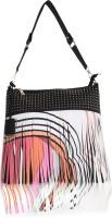 Diana Korr Messenger Bag(Multicolor, Black)