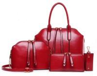 Tanned Hand-held Bag(Maroon)
