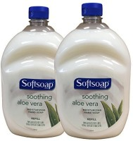 Softsoap hand soap soothing aloe vera moisturizing hand soap refill pack 2(1920 ml, Pack of 2)