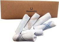 Blacksmith 100% Mercerized Cotton Solid White Handkerchief(Pack of 6)