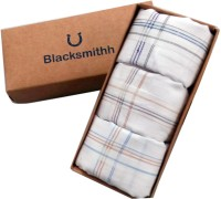 Blacksmith 100% Mercerized Cotton Business Border Handkerchief(Pack of 3)