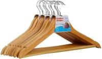 Haneez Wooden Pack of 6 Cloth Hangers(Brown)