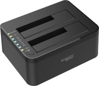 "QuantumZERO USB 3.0 Dual SATA Hard Drive Dock with Offline Clone Function 3.5 inch USB 3.0 Dual SATA Hard Drive Dock with Offline Clone Function(For 2.5""/3.5"" SATA I, II, III HDD/SSD/Hybrid drives up to 6TB, Black)"