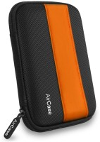 AirPlus Pocket Hard Drive Pouch 2.5 inch External Hard Disk Cover(For Western Digital, Seagate, Sony, Transcend, ADATA, Hitachi, iomega, Toshiba, Dell, Lenovo, HP, and other 2.5 Inch Hard Drive Disk., Orange-Black)