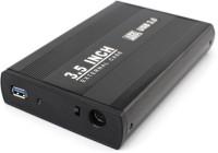 1haze SATA USB Casing 3.5 inch Hard Disk Case(For All 3.5 inches Desktop Internal Hard Drive, Black)