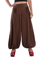 Indi Bargain Solid Cotton Viscose Blend Women Harem Pants