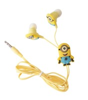 Minions In ear Z20 Wired Headphone(Yellow, In the Ear)