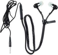 Dhhan Black Zipper Wired Headphone(Black, In the Ear)