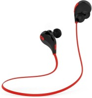 View ROOQ QY7RE-007 Wireless bluetooth Headphone(Red, In the Ear) Laptop Accessories Price Online(ROOQ)