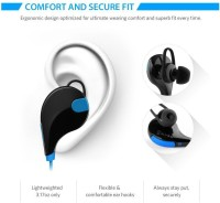 Sportzee QY7 Jogger headphone Headset with Mic(Blue, In the Ear)