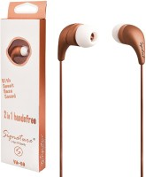 Signature VM-59 Wired Headphone(RoseGold, In the Ear) Flipkart Rs. 259.00