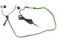 View Hexadisk Zipperst-004 Headphone(Green, In the Ear) Laptop Accessories Price Online(Hexadisk)