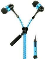 Quit-X �� Stereo Bass In Ear 3.5mm Zipper Headset with Mic(Blue, In the Ear)