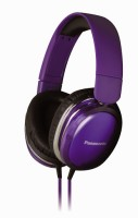 Panasonic RP-HX350ME Wired Headset with Mic(Violet, Over the Ear)
