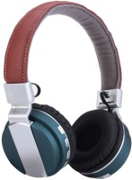 Outre BT008 Headset with Mic(Blue, Over the Ear)