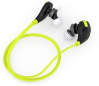Klikx QY7-Jogger-Z1 Headset with Mic(Green, Black, In the Ear)