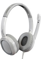 Cognetix Gray Wired Headset with Mic(White, Over the Ear)