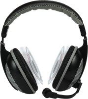 Amkette TruChat Boomer Wired Headset with Mic(Grey, Over the Ear)