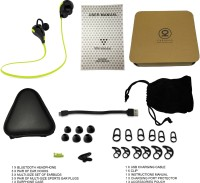 Chkokko QY7 Headset with Mic(Lime Green, Black, In the Ear)