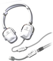 Andrea SB-405W Wired Headset with Mic(White, Over the Ear)