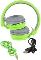 Micomy SH12 Headset with Mic(Green, Over the Ear)