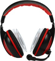 Amkette TruChat Boomer Wired Headset with Mic(Red, Over the Ear)