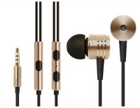 View Attitude Mi Golden Clear Bass Sound Headphset Wired Headset with Mic(Gold, In the Ear) Laptop Accessories Price Online(Attitude)