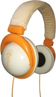 Cognetix Chota Bheem Premium Wired Headset with Mic(Orange, On the Ear)