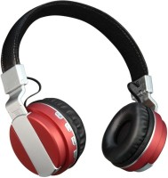 Outre BT008 Headset with Mic(Red, Over the Ear)