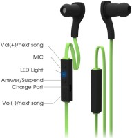 iKare sports 7 Headset with Mic(Green, In the Ear)