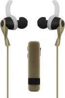 Shopizone Sports Bluetooth Headset with Mic(Gold, In the Ear)