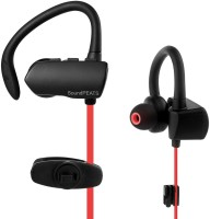 SoundPeats Q9A Wireless Bluetooth Sweatproof Secure Fit Earbuds (Black) Headset with Mic(Red, In the Ear)