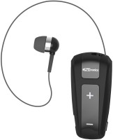 Portronics Harmonics 303 Retractable In-Ear Bluetooth Headset for Music & Calls Headset with Mic(Black, In the Ear)