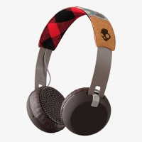 Skullcandy S5GBW-J558 Grind Headset with Mic(Gray Plaid, On the Ear)