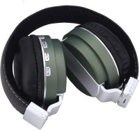 Outre BT008 Headset with Mic(Green, Over the Ear)