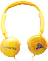 Cognetix Chennai Super Kings Diy Wired Headset with Mic(Yellow, On the Ear)