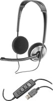 Plantronics AUDIO-478 Wired Headset with Mic(Black, On the Ear)